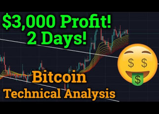 $3,000+ Profit Trading Bitcoin! DLive! BTC Technical Analysis! (Cryptocurrency News + Price)